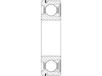 BL308 ZRN: 40X90X23MM Ball Bearing High Load 1 Steel Shield C/clip